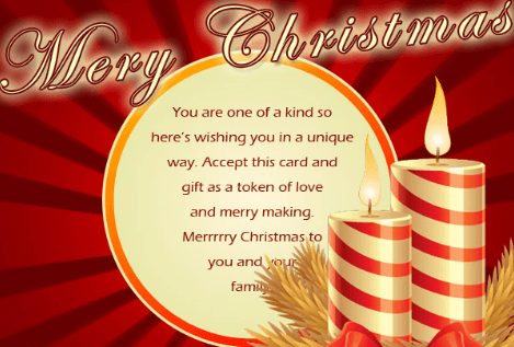 Christmas Religious Messages in Card