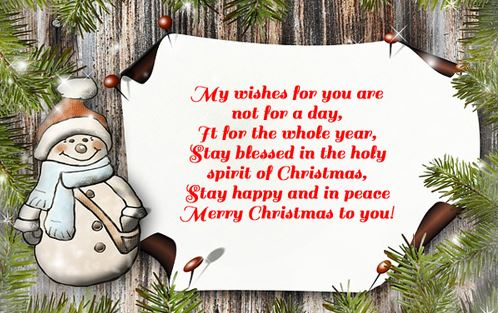 Merry Christmas Greetings For Friends