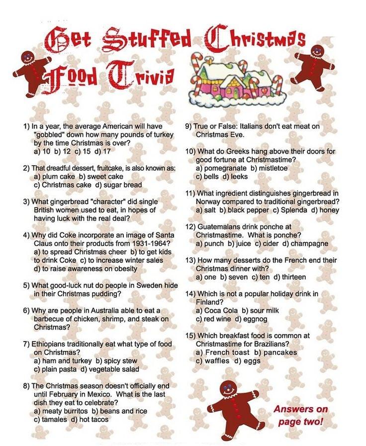 printable christmas trivia